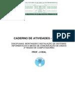 Caderno de Atividades - MISI e MCD - 2º Redes - Agosto