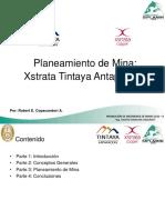 Planeamiento de Mina. Xstrata Tintaya Antapaccay
