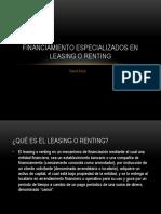 financiamiento especializados en leasing o Renting