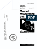 Manned Maneuvering Unit Design and Performance Specification