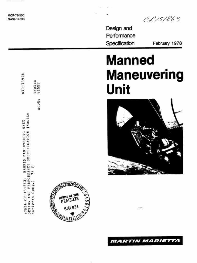 Manned Maneuvering Unit Design and Performance