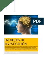 Enfoques de la investigacion - Alfredo Otero Ortega