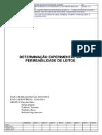 Determinação experimental da permeabilidade de leitos