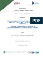 Manual de Prácticas Arquitecrura de Computadoras Basado en Competencias