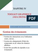 Chap IV  pptp - Toolkit graphique- Java Swing - Gestion des evenements