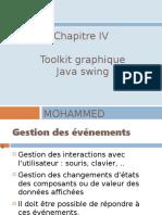 Chap IV  pptp - Toolkit graphique- Java Swing V5- Gestion des evenements V5E 1