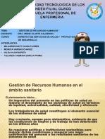 GESTION DE RECURSOS HUMANOS - GRUPO 5