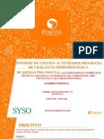 PLANTILLA PRESENTACIÓN INFORME DE GESTIÓN DE ACTIVIDADES - SEMESTRAL (1)