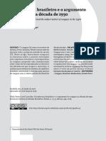 DIAS, Pedro. O intelectual brasileiro e o argumento do cangaço da década de 1930