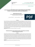 Ética profesional del docente universitario de psicología frente a un panorama multi-paradigmático