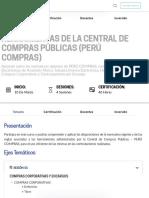 Herramientas de la Central de Compras Públicas (Perú Compras)