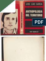 J.L García - Antropología del territorio (1976)