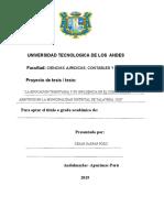 proyecto de tesis de arbitrios