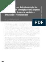 Um estudo de caso de implementação das BPF em empresa