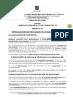 MODULO IV PROCESAL CIVIL GRAL IV SEMESTRE 2020-1