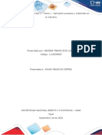 tarea 1 Aporte Individual procesos industriales