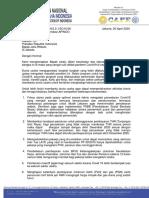 Final Surat APINDO Rekomendasi Covid Ke Presiden