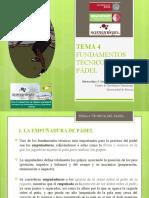 TEMA 4. FUNDAMENTOS TÉCNICOS DEL PÁDEL