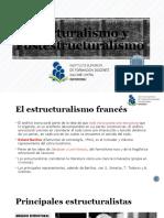 Estructuralismo y  Postestructuralismo