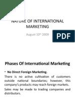 NATURE OF INTERNATIONAL MARKETING Aug 10th (1)