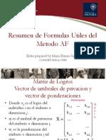 Formulas Del Metodo AF