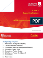 2020 T2 MN601 Lecture 7 Budgeting Projects