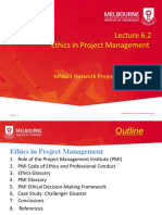 2020 T2 MN601 Lecture 6.2 Ethics in Projects