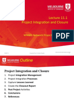 2020 T2 MN601 Lecture 11.1 Project Integration and Closure.pptx