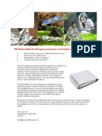 PSC Rescue Sheets for All Weather Protection