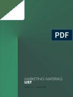 Marketing Materials List