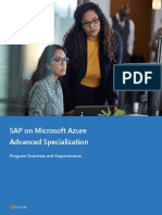 SAP on Microsoft Azure Advanced Specialization Overview