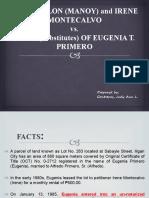 Montecalvo vs. Heirs of Primero