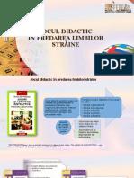 Jocul didactic în predarea limbilor străine [Resursă electronică]