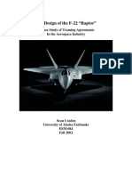 The Design of the F-22 Raptor