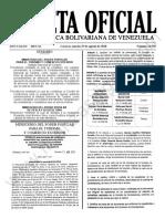 Gaceta Oficial 41.950 Sumario