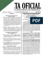 Gaceta Oficial 41.953 Sumario