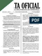 Gaceta Oficial Extraordinaria 6.563 Estado de Alarma Covid 19