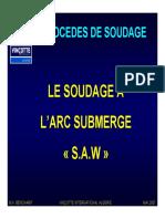 Procèdes de Soudage SAW