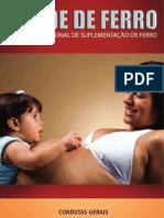 MANUAL SAÚDE DE FERRO - PROGRAMA NACIONAL DE SUPLEMENTAÇÃO DE FERRO