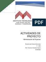 Actividades de Proyecto