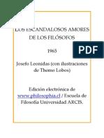Leónidas, Josefo - Los escandalosos amores de los filósofos