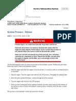 5.- System Pressure - Release