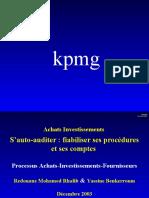 Achats fournisseurs & Investissements