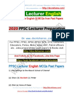PPSC Lecturer English 50 MCQs from Past Papers.pdf