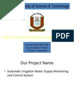 Automatic irrigation project slide
