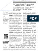 Terminology and classification of muscle injuries in sport The Munich consensus statement