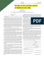 Acto Legislativo 1 de 2005 (Pensiones)
