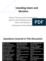 Understanding Islam and Muslims