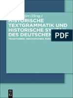Historische Textgrammatik und Historische Syntax des Deutschen Traditionen, Innovationen, Perspektiven by Arne Ziegler aisd.pdf