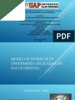 Modelos teóricos de enfermería aplicadas en salud mental